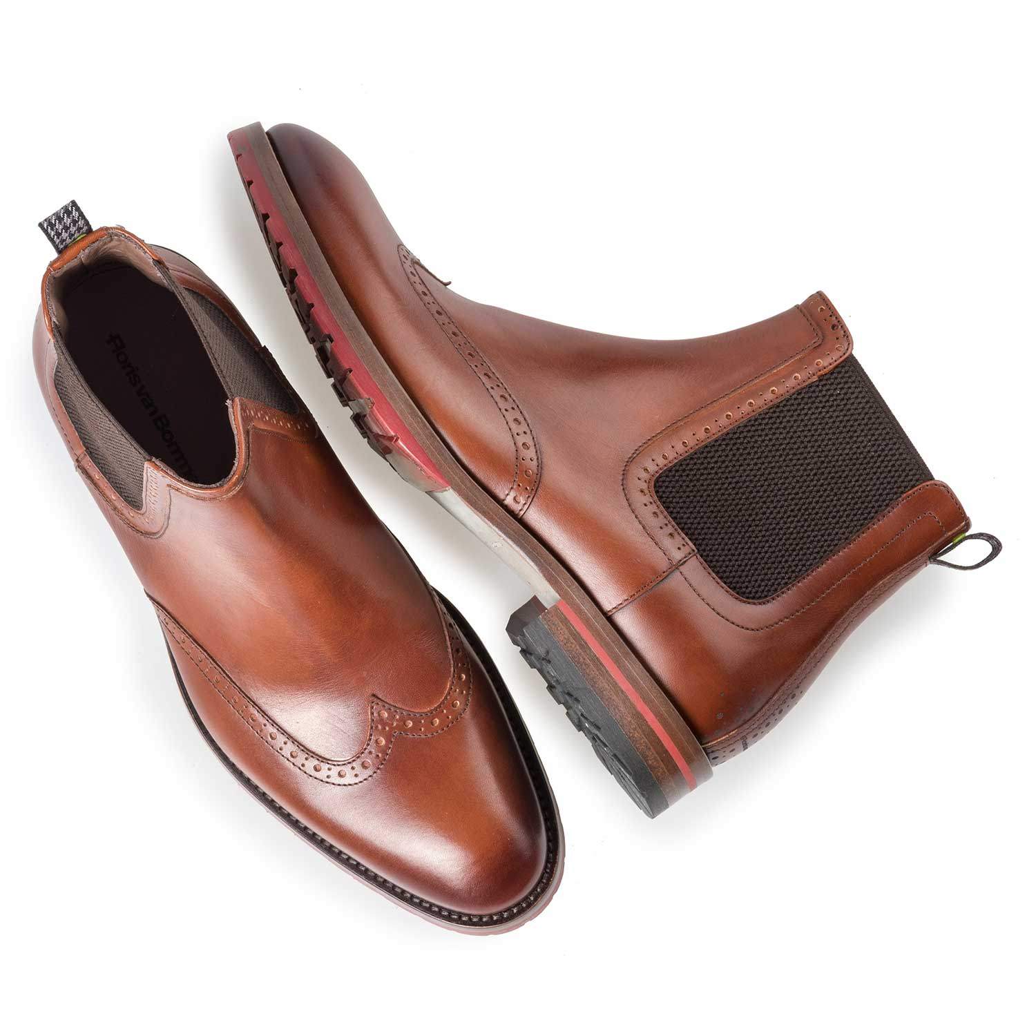 10329/03 - Dark cognac-coloured calf's leather Chelsea boot