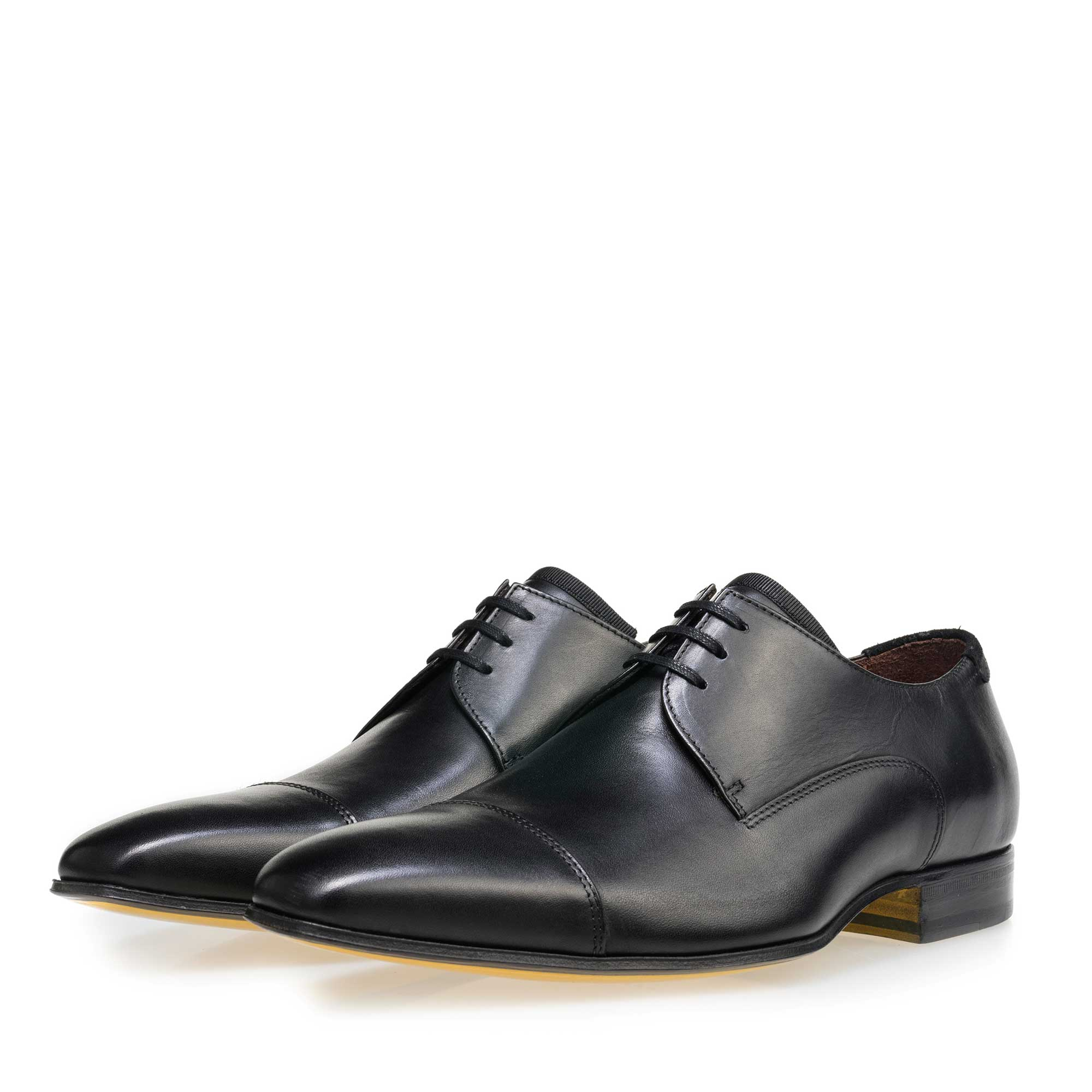 14192/03 - Floris van Bommel black leather men's lace-up shoe