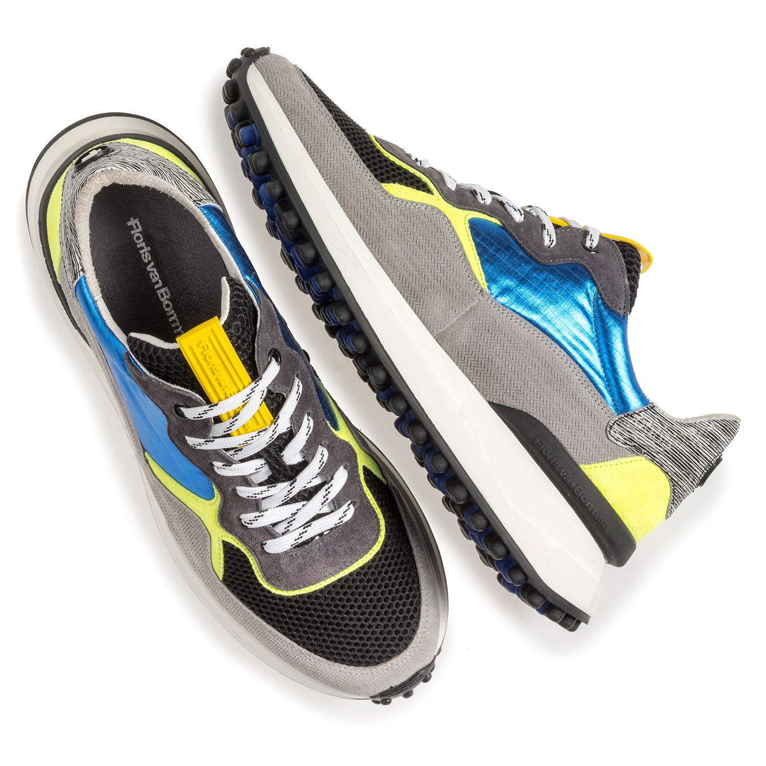16301/18 - Multi-colour sneaker with yellow and blue details