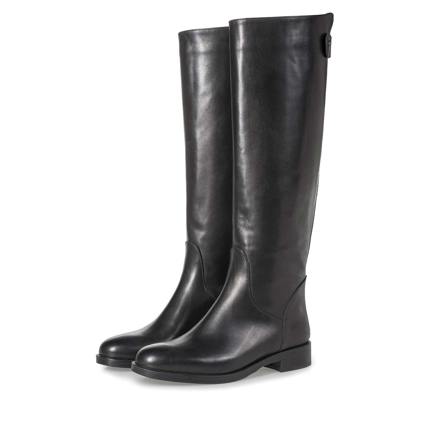 85715/00 - Black calf leather high boots