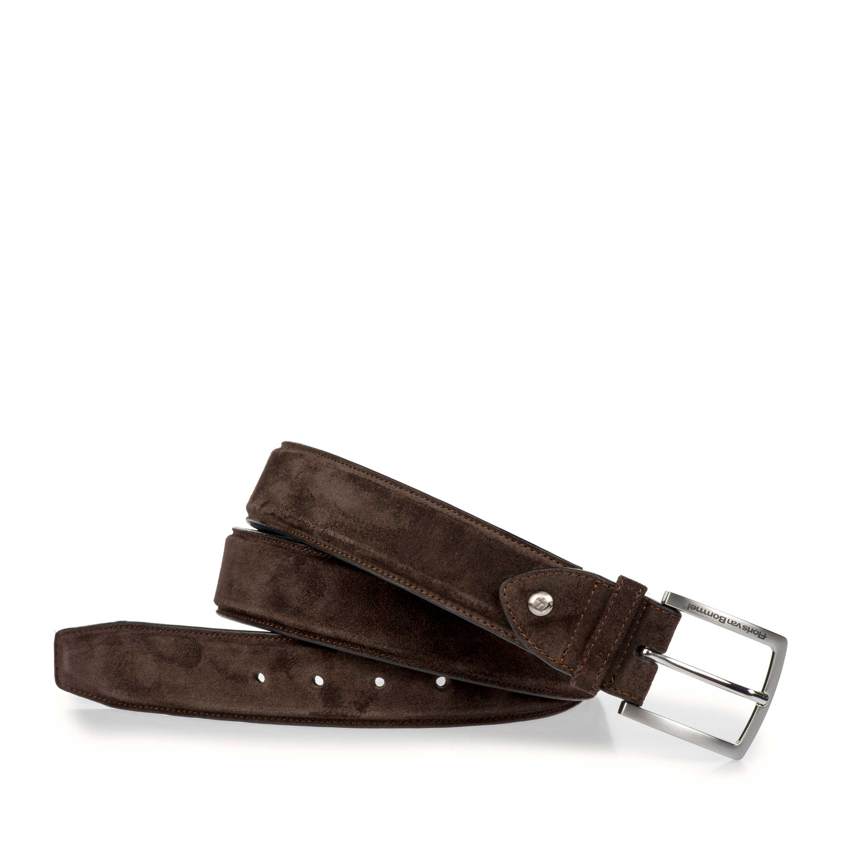 75189/12 - Brown suede leather belt