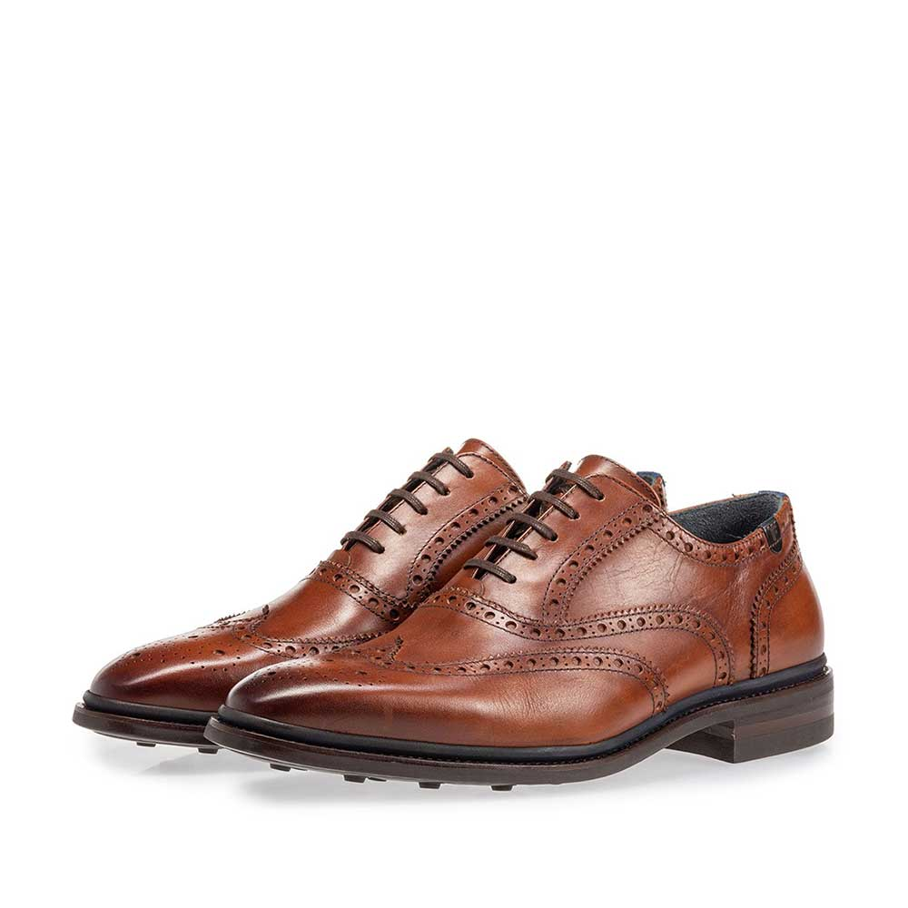 19172/00 - Brogue calf leather cognac