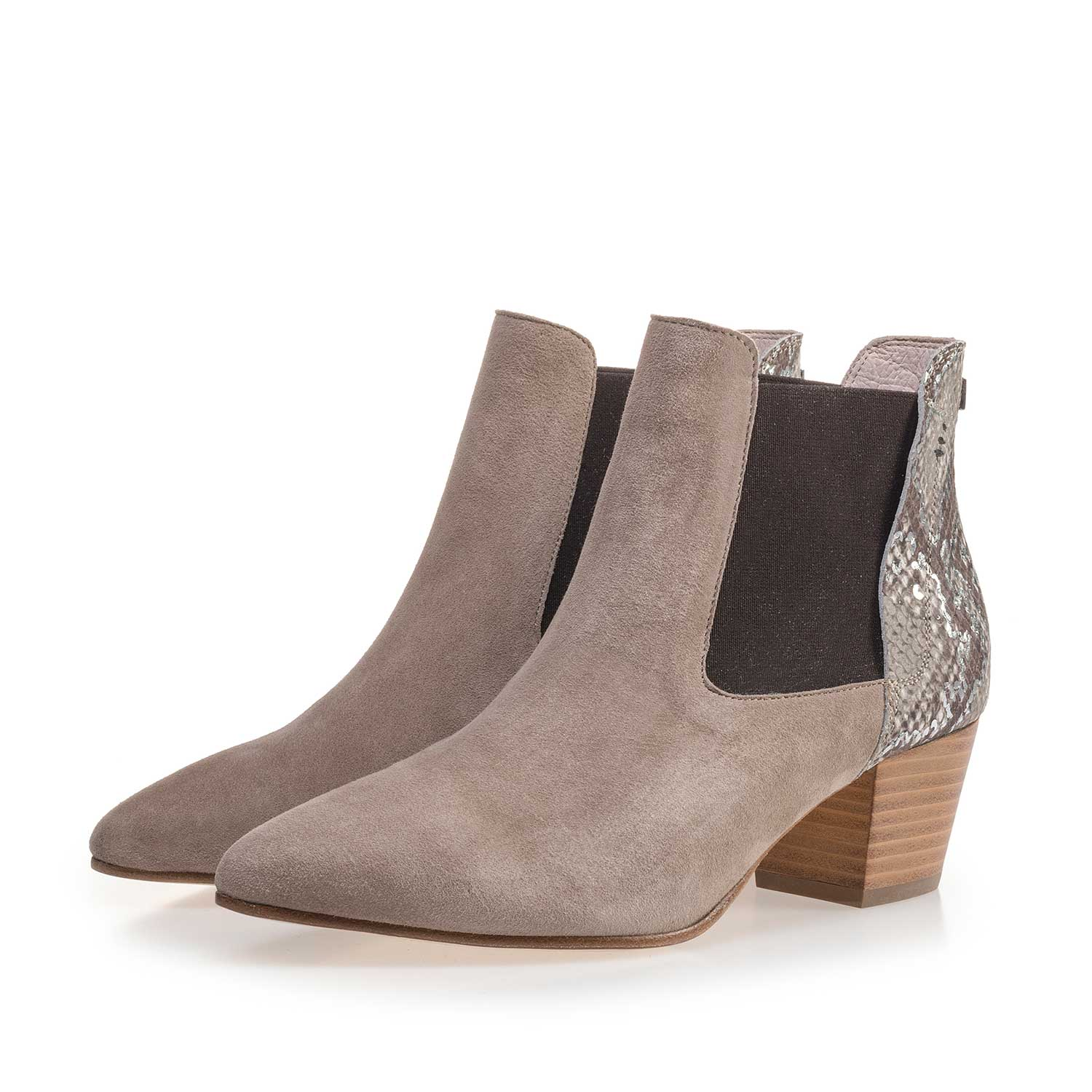 85250/00 - Taupe-coloured calf's suede leather Chelsea boot