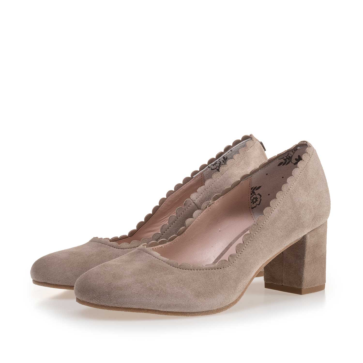 85226/01 - Taupe-coloured suede leather pumps