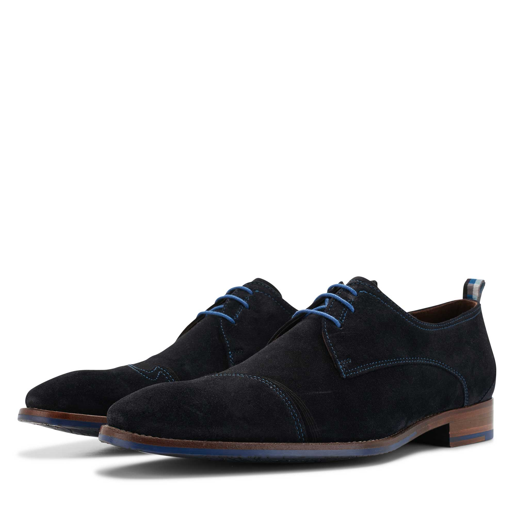 18006/04 - Floris van Bommel blue men's suede lace shoe