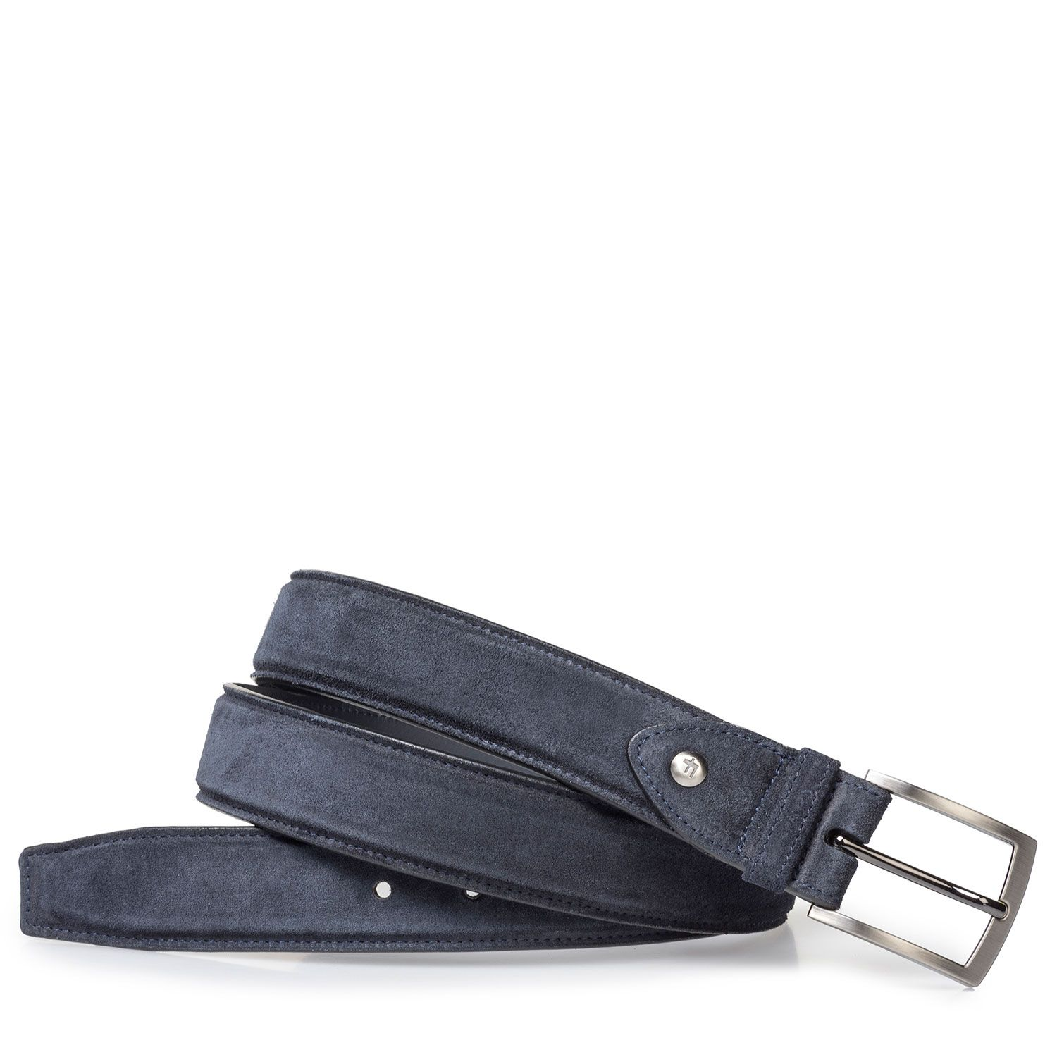 75200/43 - Lightly buffed, blue suede leather belt