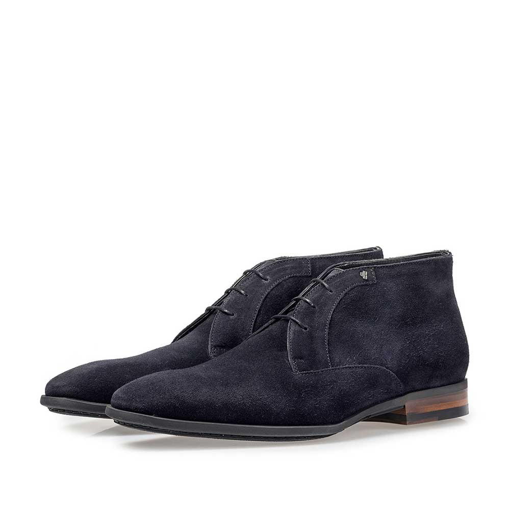 20057/00 - Dark blue suede leather lace shoe